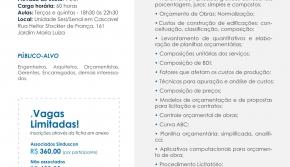 SINDUSCON PARANÁ OESTE E SENAI LANÇAM CURSO DE ORÇAMENTO DE OBRAS
