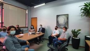 Coordenadores do COINFRA participam de reunião com Secretário de Planejamento e Secretário de Obras de Cascvel