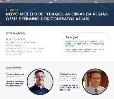 Reunião: Novo Modelos dos Pedágios, as obras da região Oeste e Término dos contratos atuais