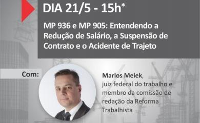 ASSISTA: JUIZ MARLOS MELEK ESCLARECE DÚVIDAS SOBRE AS QUESTÕES TRABALHISTAS DURANTE A PANDEMIA
