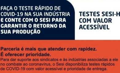 Sesi Paraná fornece testes de Covid-19 com valor diferenciado