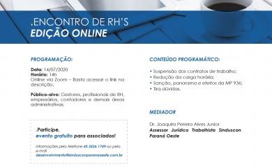 Encontro de RH's – Edição Online
