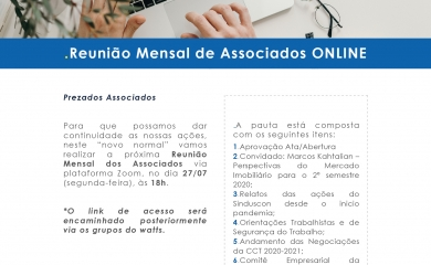 Reunião Mensal de Associados