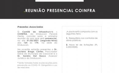 Reunião Comitê de Infraestrutura – COINFRA