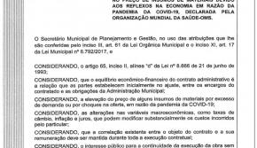 Cascavel elabora normativa de  reequilíbrio financeiro de obras